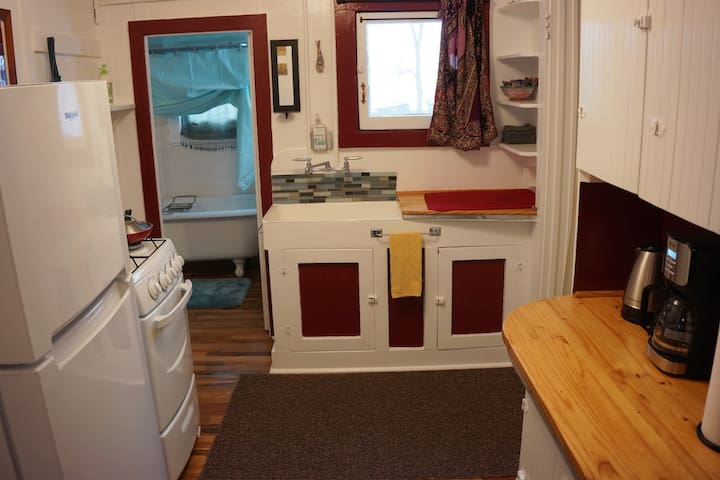 Quaint kitchen with all you need to create your favorite meals