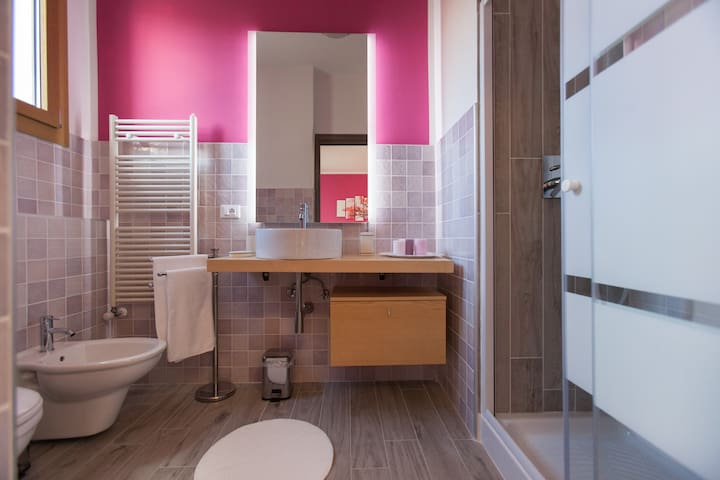 The stylish private bathroom
