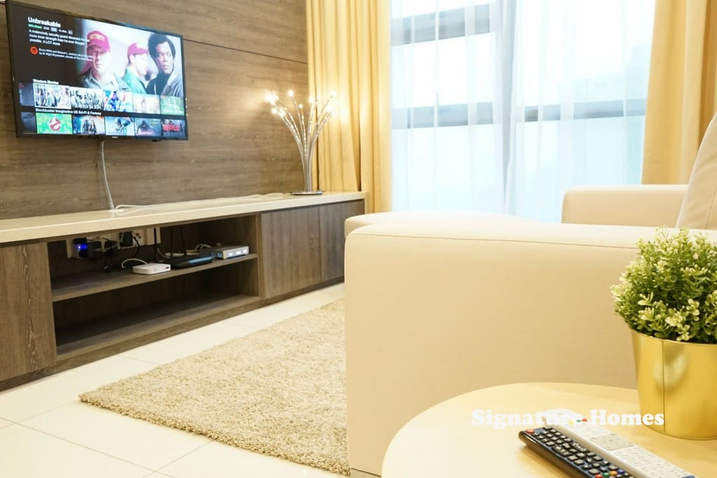 Welcome to domestic bliss.. cozy sofa, unlimited movies, enjoy life's little luxuries in our SignatureHome suites..