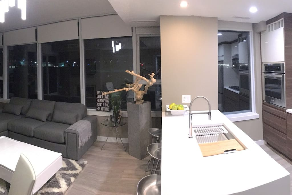Updated Living room and Kitchen