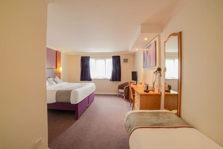 Standard Family of 3 Room Lakeside Haydock Hotel