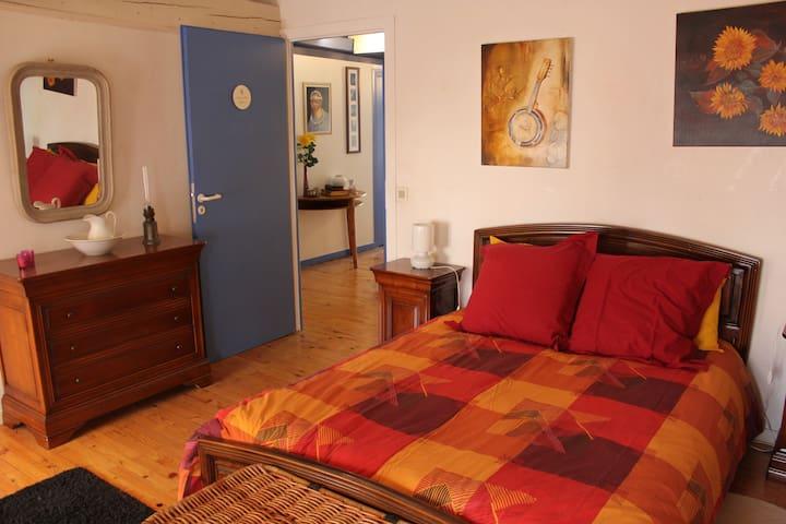 Chambre Lilas + SDB partagée avec chbre Mimosa