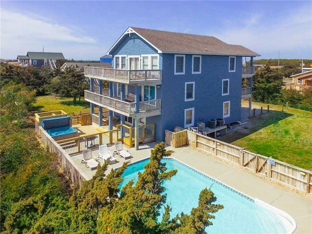 Recent Upgrades! Oceanview w/ Pool, Hot Tub, Game Rm, DogFriendly - 425
