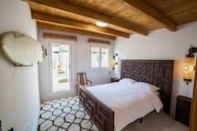 Bedroom four in guest house with en suite bathroom