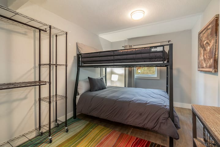 Bedroom #4-furnished with a full bunk bed