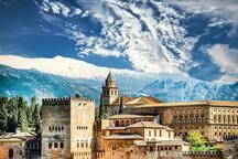 Granada Alhambra Palace in Winter