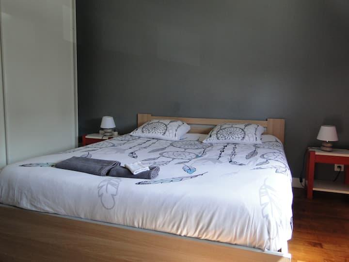 chambre 1 chez habitant 1 lit 2 pers et 1 lit pers