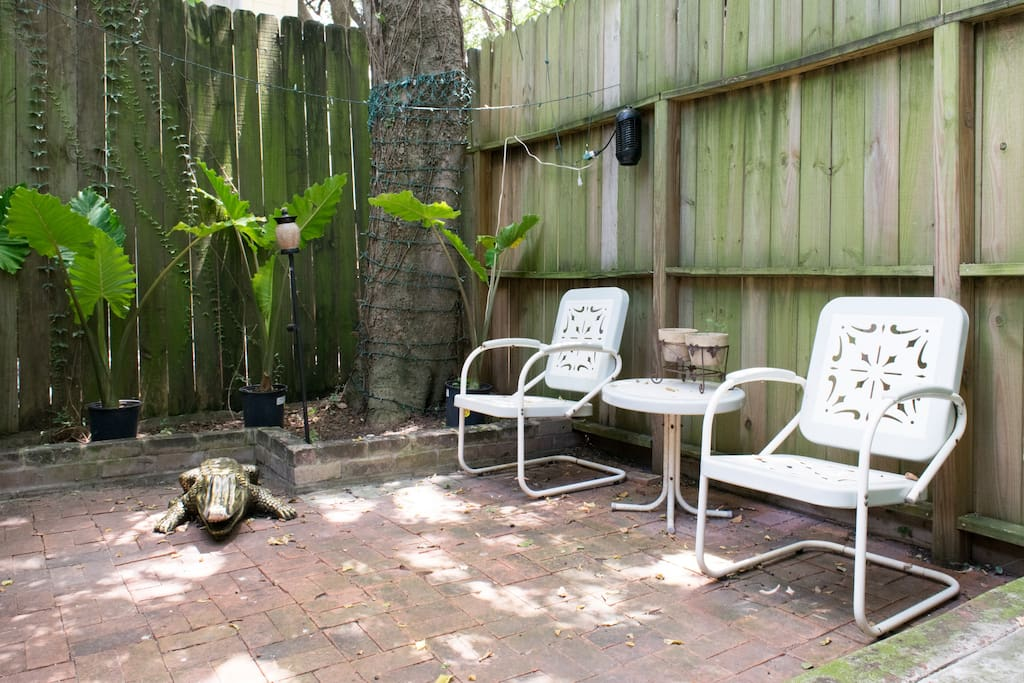 Private courtyard for your own personal entertainment and pets