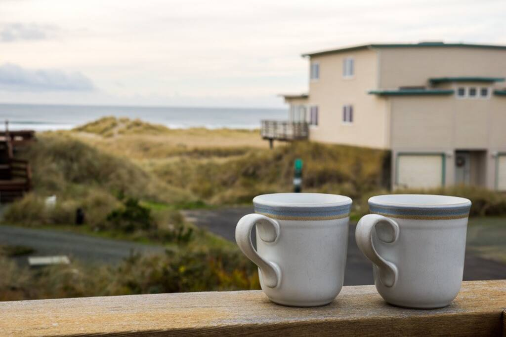 Enjoy your morning cup of coffee out on the private master bedroom deck.