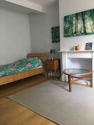 This is the single bed, there is room to add another single bed if there is an additional guest.