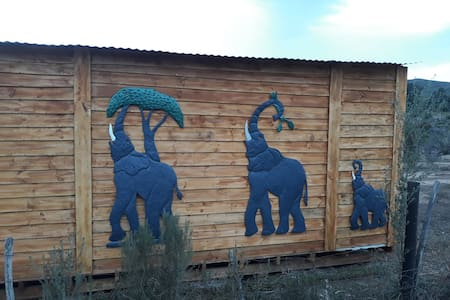 Elephant Cabin, a getaway for two.