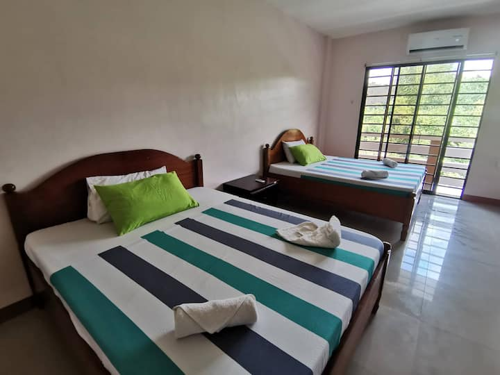 Stay in Family Room for 4 in Coron with Balcony