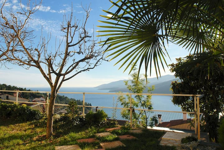 Studio flat with terrace and sea view Rabac, Labin (AS-12368-a)