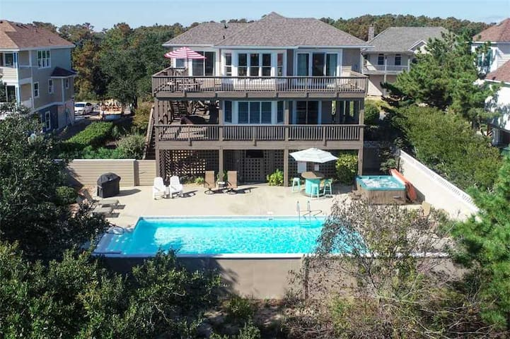 #MS3: OCEANSIDE Home in Corolla w/PrivatePool & HotTub