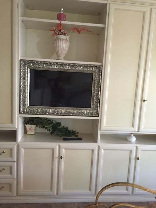 Armadio con Tv plasma incorporato in cornice da quadro