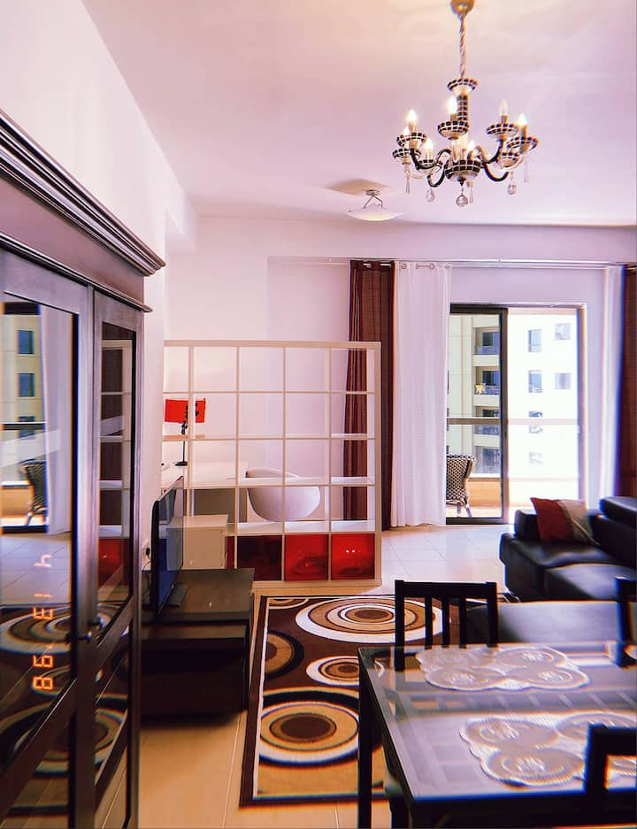 STUDIO IN THE MIDDLE  OF JBR, RIMAL MARINA VIEW