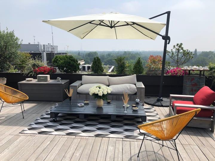 Exceptionnel Loft  vue sur tout Paris Terrasse !