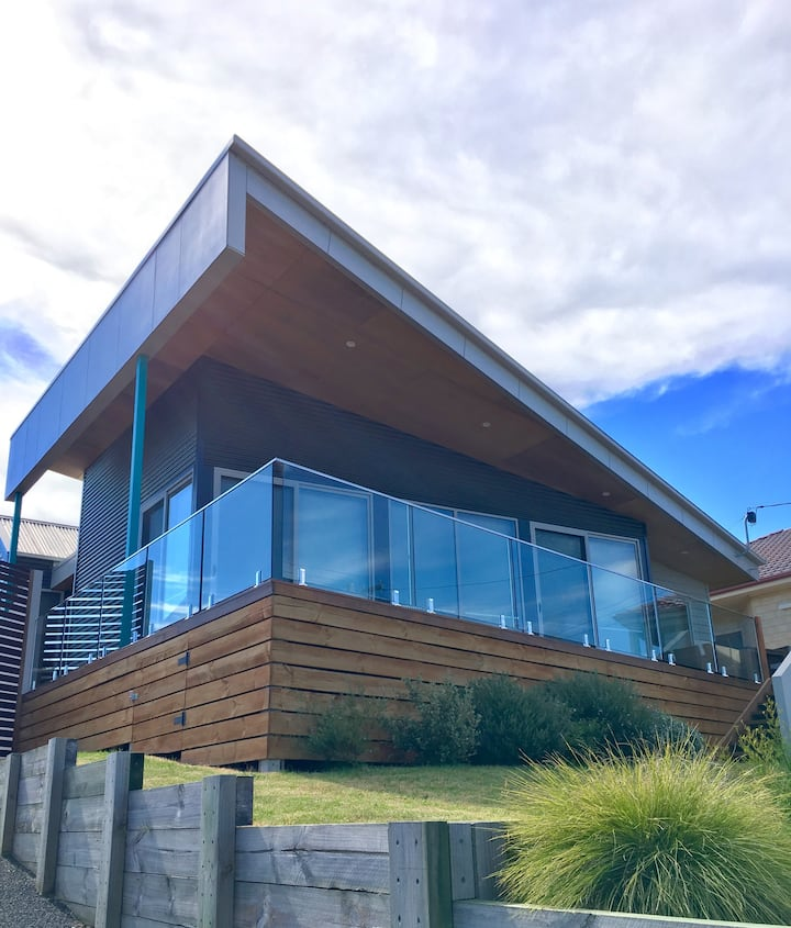 Modern and charming home overlooking the waters.