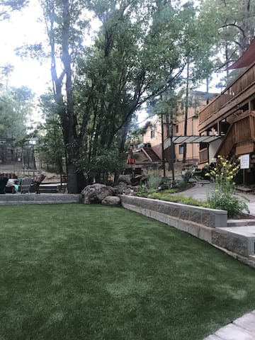 Enjoy the beautiful Flagstaff weather in our spacious backyard!