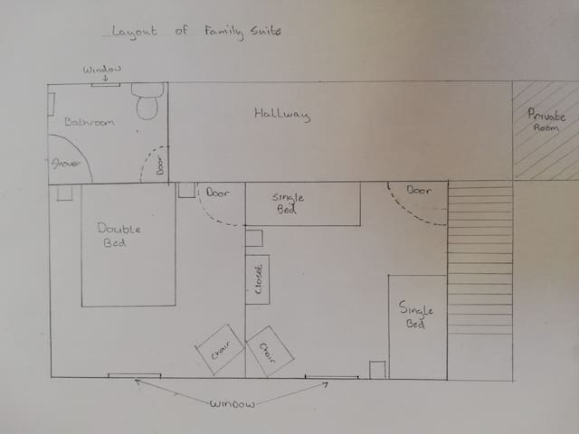 Layout of family suite