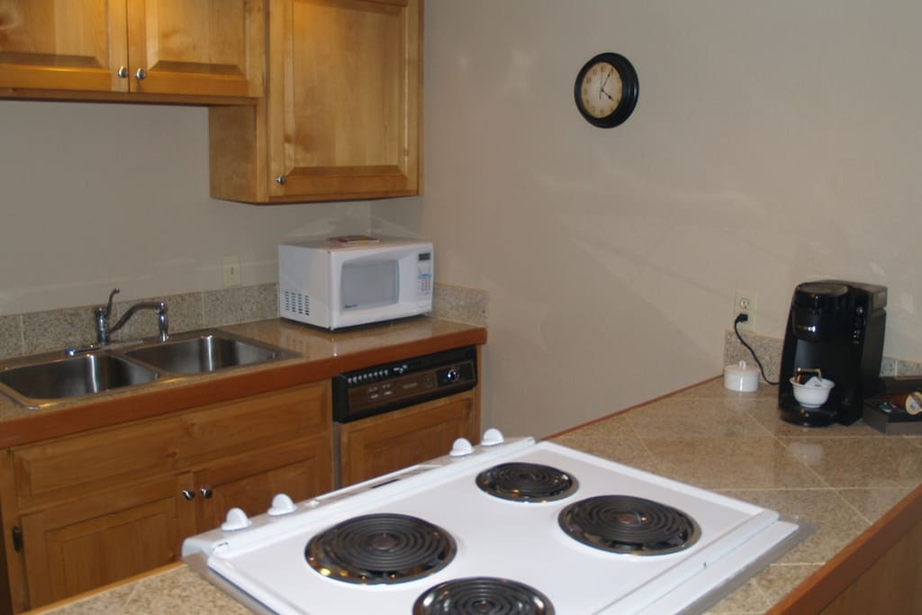 The kitchen comes ready for you to whip up a great meal before heading out to explore Durango and Silverton