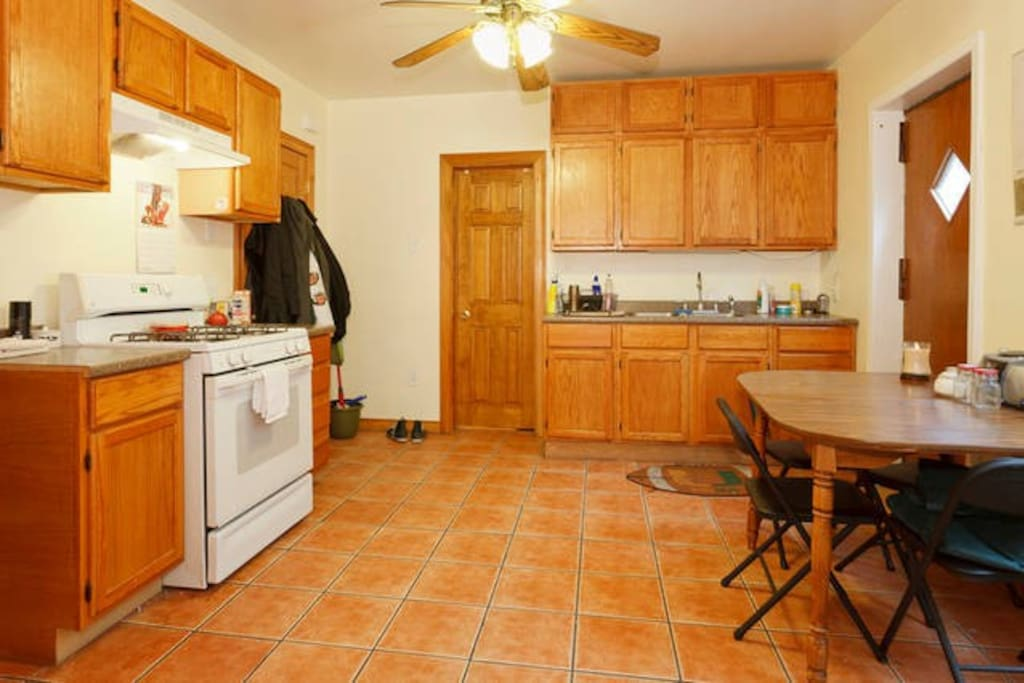 Eat-in Kitchen. Perfect for breakfast or brunch prep with backyard patio access.