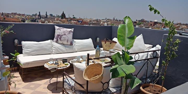 Marrakech Chambre 1 dans  le Riad Pierre de Lune