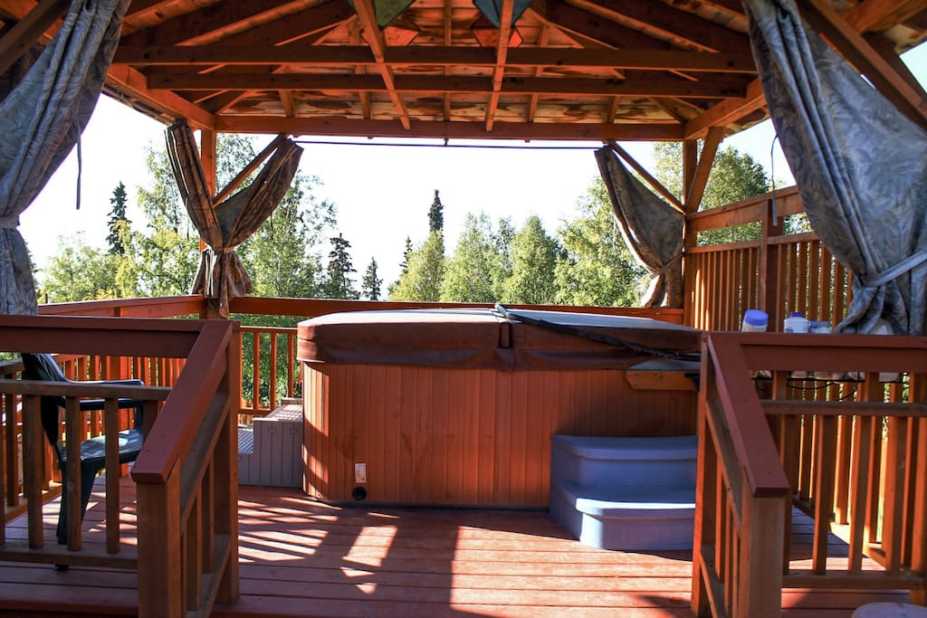 Hot Tub for guest use also includes stunning views.