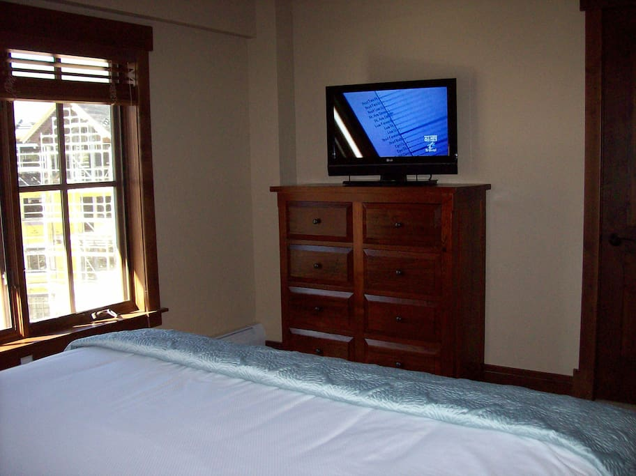 Flat screened TV in private bedroom