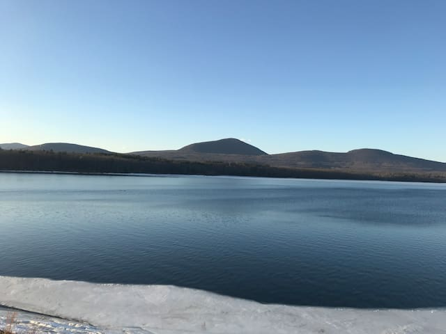 Iconic view across the nearby Ashokan Reservoir - do not miss!