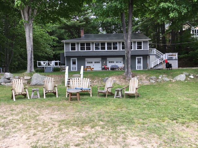 Beach House on a sandy cove on Sebago Lake