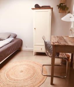Bright room (8) in villa 10 min Roskilde/RUC