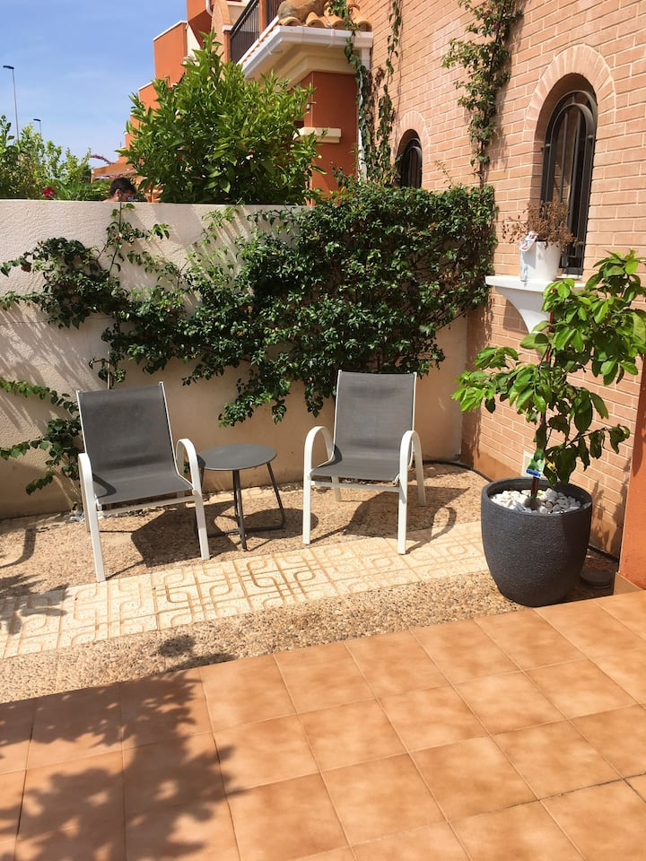 House with 3 bedrooms in Orihuela, with wonderful sea view, shared pool, enclosed garden - 2 km from the beach