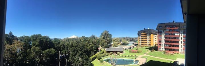 Departamento vista al Volcán en condominio