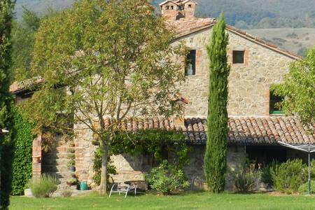 Camino, with an original fireplace - Pornello