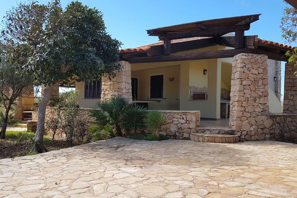 Ingresso esterno Villa Soprana
