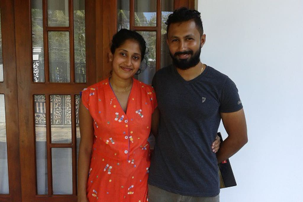 meet your hosts, a young Sri Lankan couple, called Tharini (the wife) and Thihara (the husband)