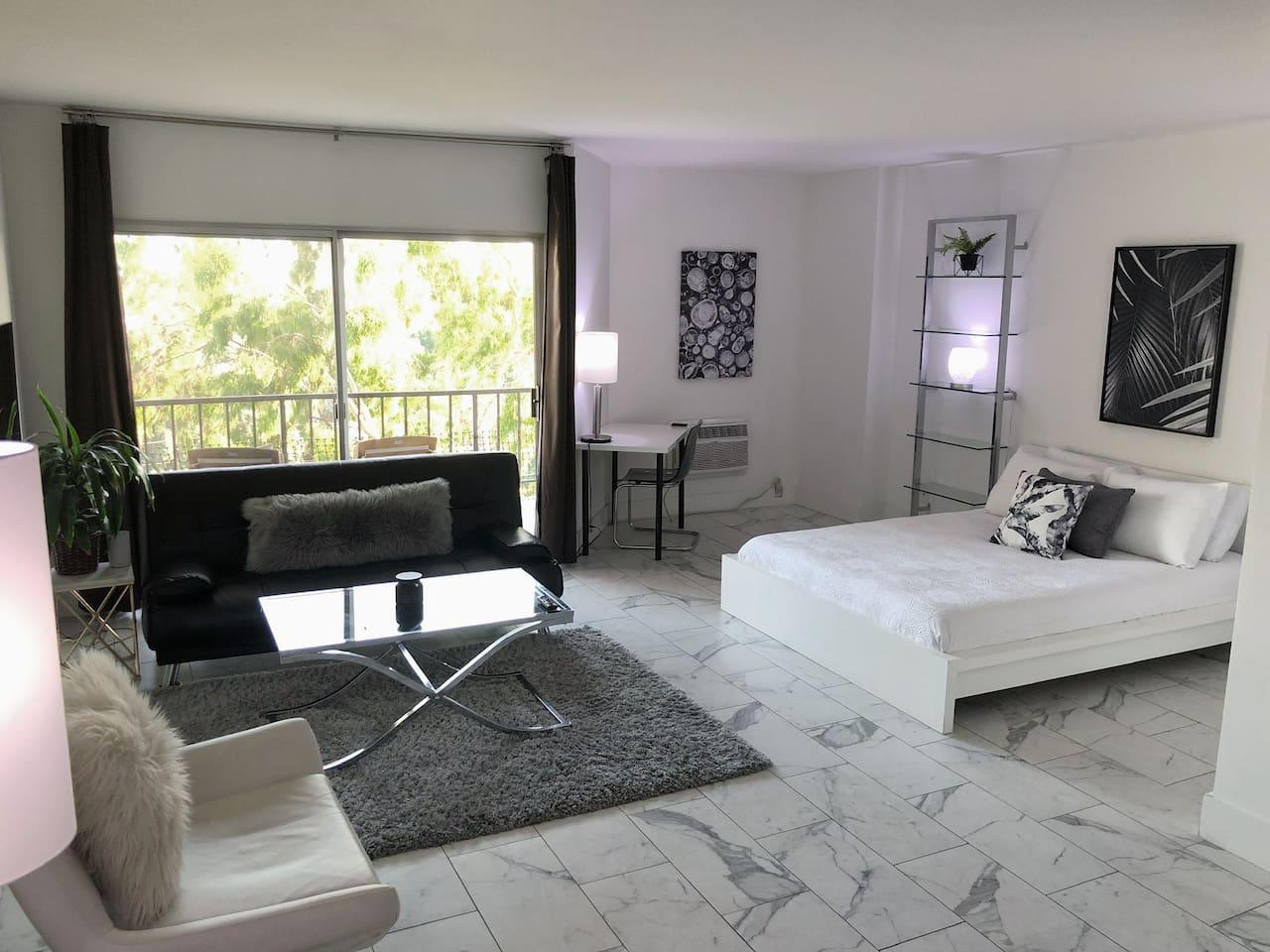 Stylish Studio Suite open floor plan