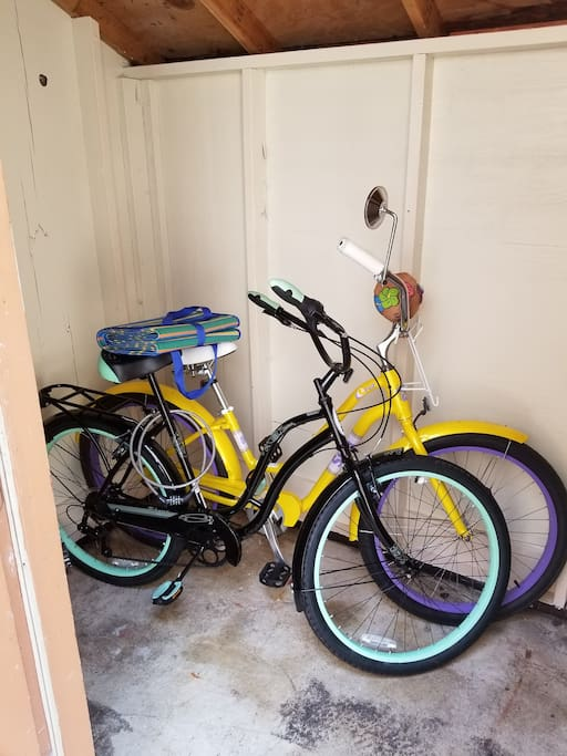 Bikes, Beach Chairs, & Umbrella Available