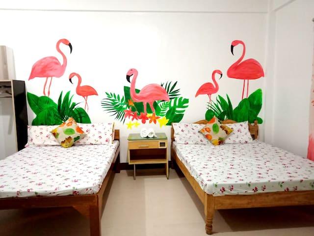 FAN ROOM Flamingo Rm@CasaBolo w/ private beach