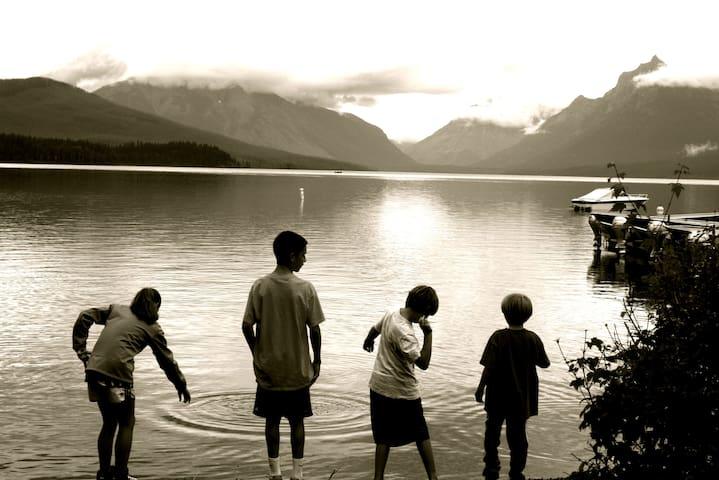 Lake McDonald is just a short drive away