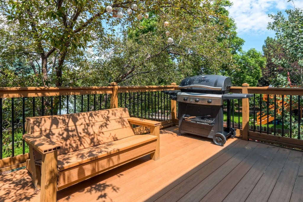 Spend leisurely afternoons relaxing and grilling on the private back deck.
