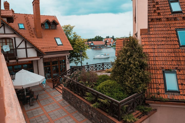 Apartament z widokiem na Jezioro Mikołajskie