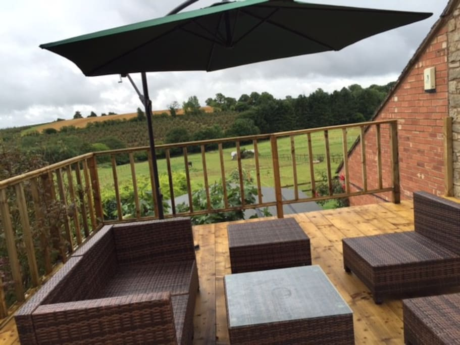Balcony area from bedroom