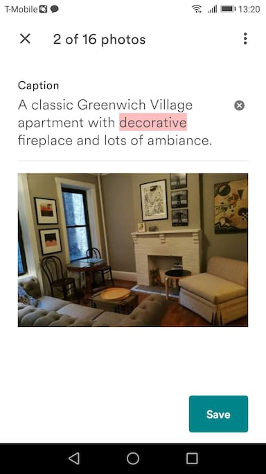 A classic Greenwich Village apartment with decorative fireplace and lots of ambiance.