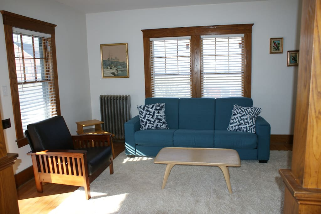 Family room includes a full size Convert-a-Couch.
