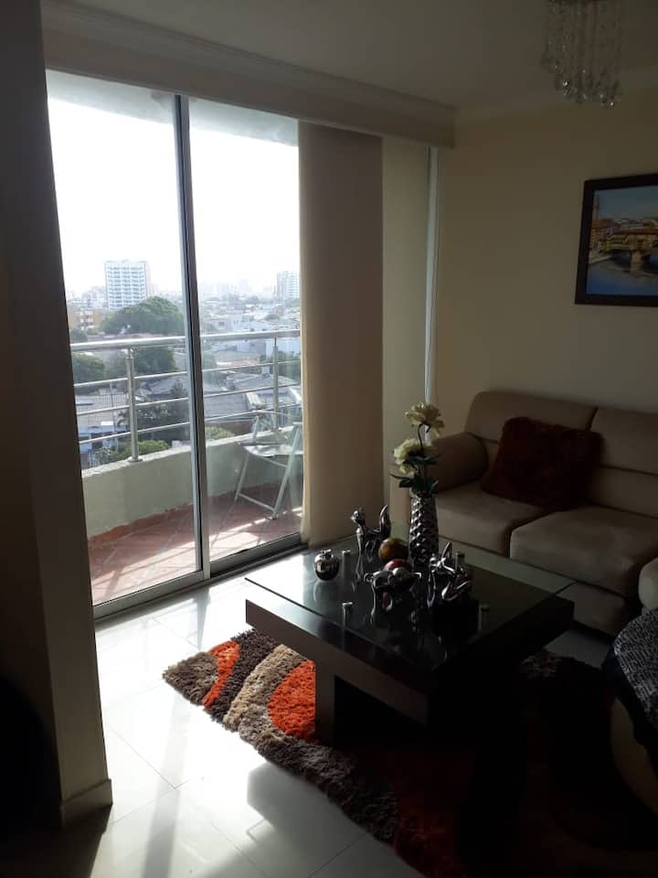 Apartment  with nice  view of the city