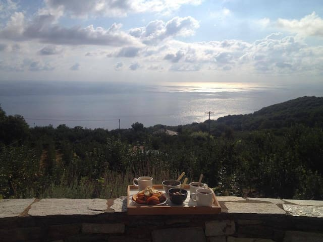 THE MOST PERFECT VIEW AT AEGEAN SEA - Pouri - Casa