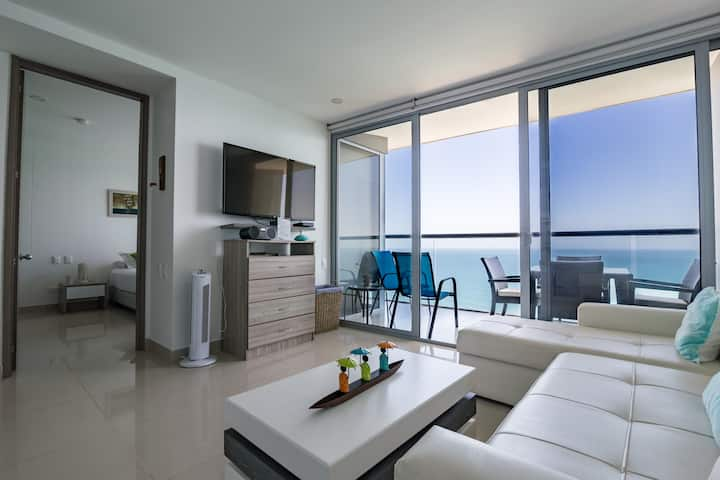 22nd Floor Spectacular 1 Bedroom Apt in Bocagrande