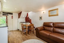 Downstairs open plan living and dining areas